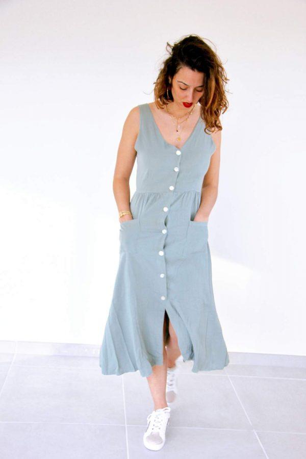 robe bohème originale avec boutons