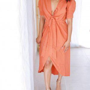 robe bohème originale couleur orange