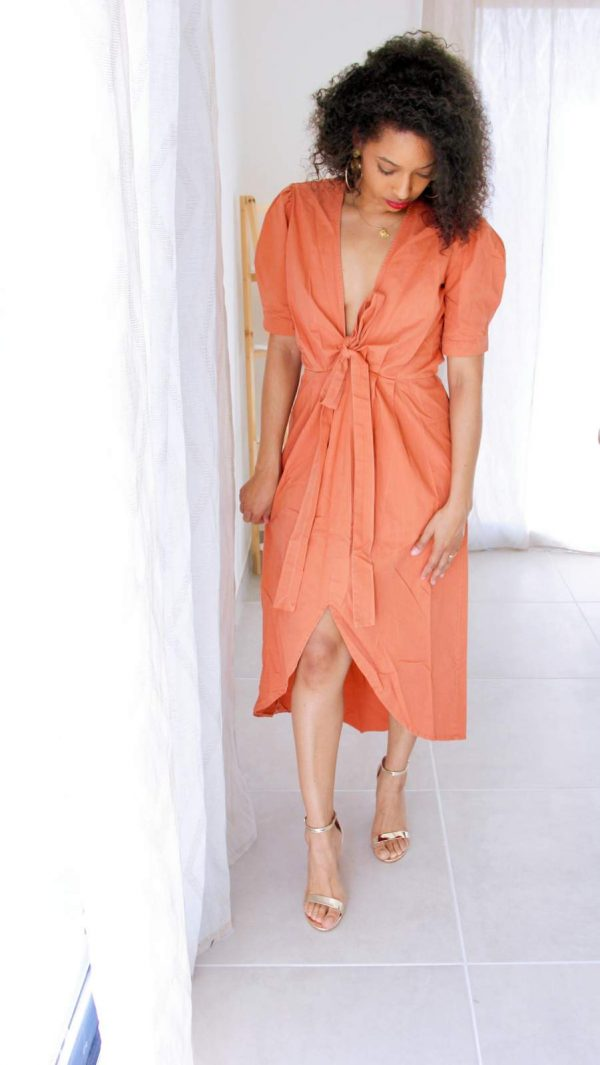 robe bohème originale couleur orange