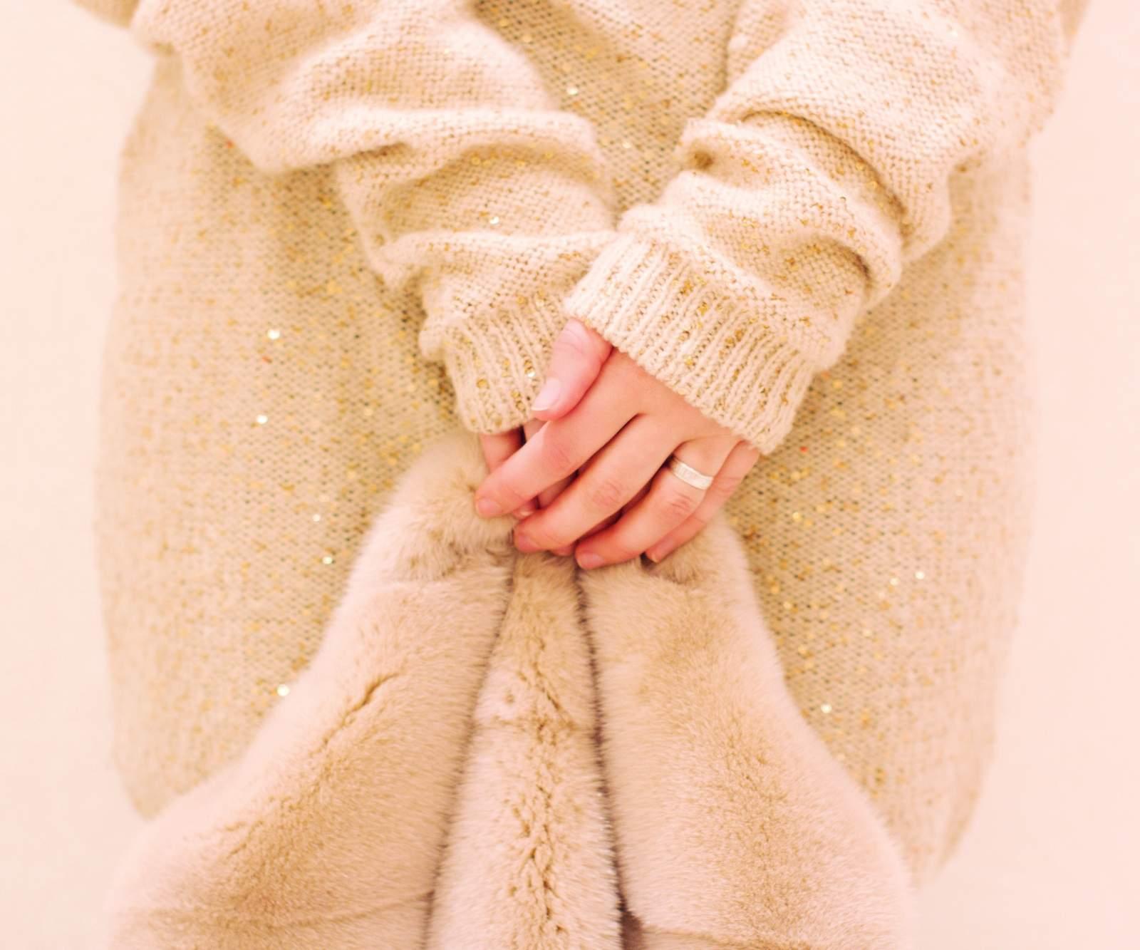 Photo d'une robe bohème adaptée à l'hiver
